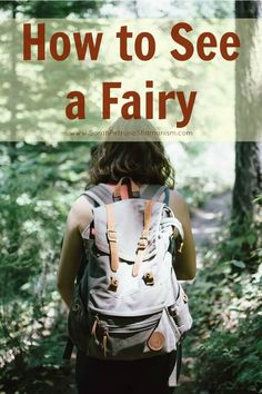 Learn how to see a fairy with your actual, physical eyes