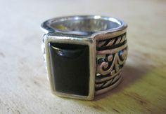 Silpada R1096 Sterling Silver Black Chalcedony Ring Size 8.5 #Silpada #SterlingSilver #Ring