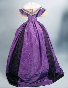 purple silk ball gown with day bodice