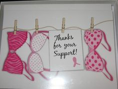 CUTE breast cancer fundraiser card idea!!