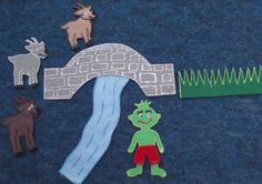 The Three Billy Goats Gruff Felt Board Flannel by FunFeltStories