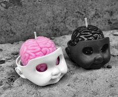 home accessory goth pastel goth cool cute kawaii skull candle lolita pastel…