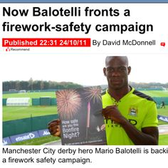 """Balo: """"It's an important message that children should not mess with fireworks. They can be very dangerous if they are not used in the right way. People should follow the firework code."""""""