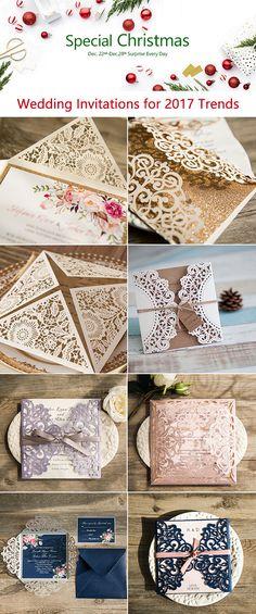 Christmas Sale-elegant wedding invitations 2017 trends