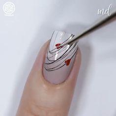 This nail artist simply nailed it! Credits: Yagala Joan This nail artist simply nailed it! Nail Art Designs Videos, Gel Nail Art Designs, Nail Design Video, Nail Art Videos, Simple Nail Art Designs, New Nail Art, Nail Art Diy, Easy Nail Art, Classy Nails