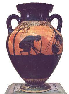 Exekias - the suicide of Ajax - Greek black-figure vase
