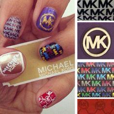 MK inspired nails<3