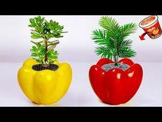 Flower vase making // Cement flower vase at home - ELENA Flower Vase Making, Flower Vases, Flower Pots, Plastic Bottle Flowers, Diy Plastic Bottle, Diy Crafts For Home Decor, Diy Garden Decor, Diy Flowers, Paper Flowers