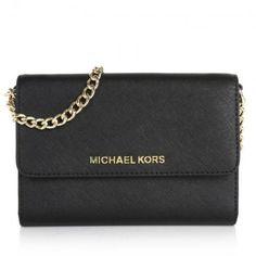 Michael Kors Tasche – Jet Set Travel LG Phone Crossbody Black – in schwarz – Umhängetasche für Damen