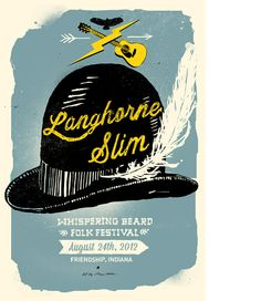 Creative Review - Whispering Beard gig posters