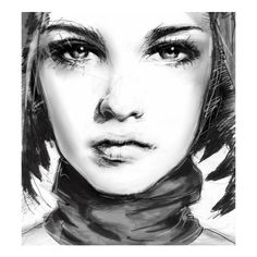 Beautiful Illustrations ❤ liked on Polyvore featuring faces