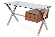 One Kings Lane - The Home Office - Walnut Beverly Desk, Small