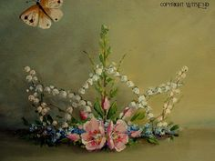 Fairy Crown painting stil life original ooak art roses door 4WitsEnd