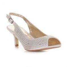 49784a02e58 Slingback Ivory Satin Shoes. Janet Ingram · Wedding shoe idea