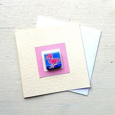 Flamingo Card, Birthday Card, Greeting Card, Blank Card, Magnet Card, Thankyou Card, Bird Card, Card for Girl, Water Bird, Cellophane Wrap, Bird Cards, Plastic Waste, Card Birthday, Blank Cards, Girl Gifts, Flamingo, Envelope, Magnets
