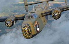 """The Commemorative Air Force Consolidated B-24 Liberator """"Diamond lil"""" ( Photo by Scott Slocum)"""