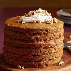 Pioneer Wedding Stack Cake: This wonderfully moist and generously spiced six-layer cake is a showy spin on humble applesauce cake.