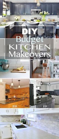 DIY Budget Kitchen Makeovers •  One project at a time! Step by step tutorials to help you make-over your kitchen!