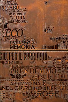 IL 'CAMPIELLO' DI 3NDY STUDIO: 'ECO DI PASSI NELLA MEMORIA' For other examples of laser cut panels visit www.milesandlincoln.com