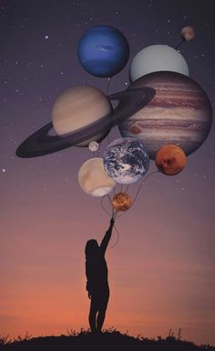 Image discovered by Jy Rose. Find images and videos about drawing and planets on We Heart It - the app to get lost in what you love. Planets Wallpaper, Wall Art Wallpaper, Galaxy Wallpaper, Love Wallpaper, Wallpapers Tumblr, Cute Wallpapers, Psychedelic Art, Surreal Photos, Photocollage
