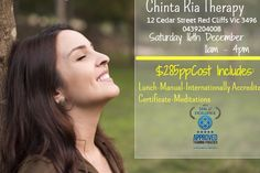 December, AM AM - Chinta Ria Therapy - Red Cliffs - Australia - You will learn Light Body Meditation, Chanelling your higher self,Chanelling a past life for your self and others, Chakr. Psychic Development, Past Life, Certificate, Meditation, December, Places To Visit, Therapy, Learning, Studying