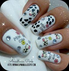 My MakeUp Mania: Milk Cow Nails...