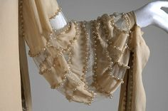 lanvin sleeve detail - what beautiful draping on this vintage fashion!