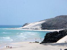 Playas de Sotavento, sureste de Fuerteventura. El Salmo y Mal Nombre, el último tramo de Sotavento. Foto de Home Canarias