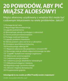 zrodlo dziennikrolniczy.pl Health Advice, Aloe Vera, Detox, Vitamins, Medicine, Health Fitness, Healthy Recipes, Healthy Eating Recipes, Healthy Food Recipes