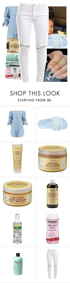 """🖕🖕 ."" by dxdddy ❤ liked on Polyvore featuring Boohoo, Puma, SheaMoisture, Palmer's, philosophy, Chapstick and FiveUnits"