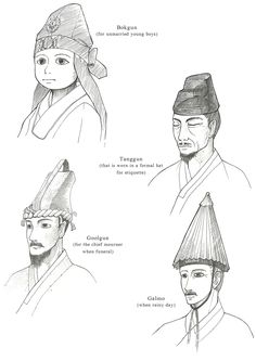 Hanbok, Men's Hats by Glimja on deviantARTHanbok, Men's Hats / 2012  Hanbok is Korean traditional clothes, especially from 1392~1910
