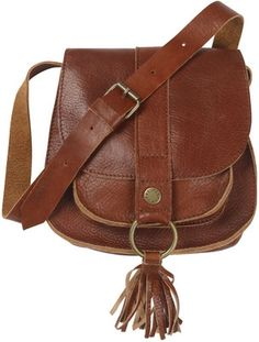 Leather Tassle Cross Body Bag - Fat Face - Polyvore
