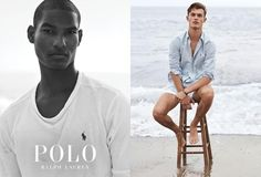 Brad Allen and Kit Butler (on right) shot in Malibu by Josh Olins for the Polo Ralph Lauren Spring 2017 Campaign