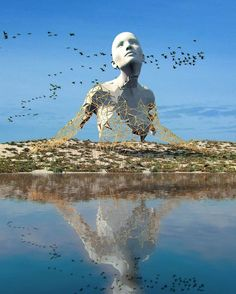 Chad Knight is a artist creating mind-bending digital art. His unique approach to digital sculptures fascinates people all over the internet. I think I became an artist at conception, Chad told the Klassik Magazine. Unusual Art, Unique Art, Art Sculpture, Bronze Sculpture, Wire Sculptures, Abstract Sculpture, Louise Bourgeois, No Photoshop, 3d Artist