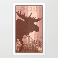 Every City Has Its Creature -Vancouver  Art Print by Andrea Orlic - $14.04
