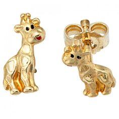 Ohrstecker 333/-G Giraffe Ohrstecker Kinder Kinderschmuck gold Giraffe