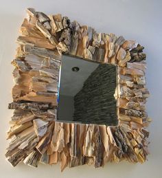Handcrafted Natural Rustic Reclaimed Wood Square Framed Mirror. $125.00, via Etsy.
