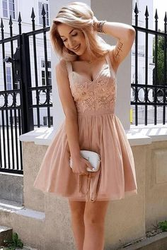 Cheap Colorful Lace Homecoming Dress Broad Spaghetti Strap Lace Applique Rose Tulle Mini Homecoming Dresses · Sweet Lady · Online Store Powered by Storenvy Pink Party Dresses, Pink Wedding Dresses, Hoco Dresses, Sexy Dresses, Mini Dresses, Dress Prom, Dress Wedding, Cheap Dresses, Formal Dresses