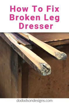 Before a furniture painter can paint, they must learn the art of furniture repair. Today I'm sharing how to fix a broken leg on a dresser.