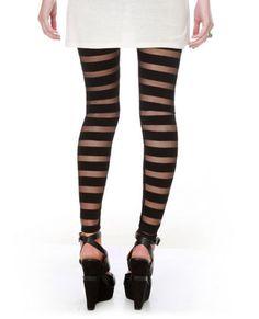 dancing in the dark black stripped leggings
