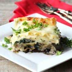 Mushroom Spinach Lasagna by NoshingwTheNolands