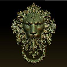 lion door knocker 3ds