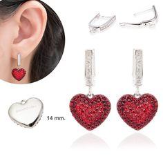 Diamond Loop Pave Heart