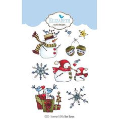 Elizabeth Craft Designs Stamp and Die Combo  Snowman and
