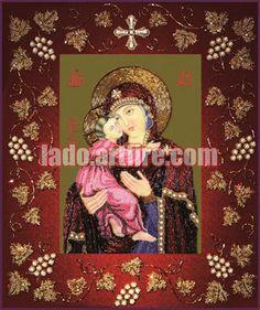 Our Lady Vladimirska Beaded Embroidery DIY kit orthodox icon