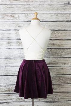 American Threads - Velvet Skater Skirt , $39.99 (http://www.shopamericanthreads.com/velvet-skater-skirt/)