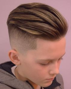 55 Cool Kids Haircuts: The Best Hairstyles For Kids To Get Guide) - Boys Slick Back Hair Hairstyle – Best Boys Haircuts: Cool Hairstyles For Little Boys – Cute Cut - Cool Kids Haircuts, Cute Boy Hairstyles, Boys Haircut Styles, Kids Hairstyles Boys, Boy Haircuts Short, Undercut Hairstyles, Boys Undercut, Teenage Hairstyles, Boys Haircuts Trendy 2018
