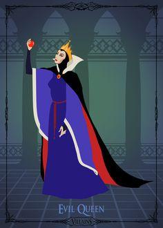Villains Trading Card - Evil Queen Art Print by Christopher Ables Disney Movie Villains, Evil Villains, Disney Characters, Evil Princess, Disney Evil Queen, Disney Love, Disney Art, Disney Pixar, Disney Stuff
