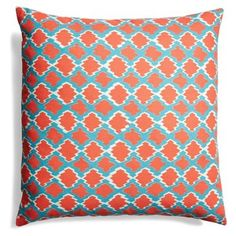 Check out this item at One Kings Lane! Lively 20x20 Cotton Pillow, Multi