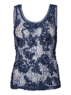 Lace flower detailed top  #Top #Lace @VERO MODA